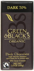 Green & Black 70% Dark Chocolate from Amazon**CLICK IMAGE